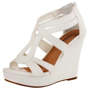 TOP MODA Strappy Open-toe Platform Wedges